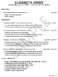 Student Resume Examples First Job by A Great Resume Example For A Student