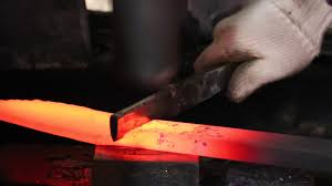 Japanese Style Kitchen Knives Master Shigeki Tanaka Making A Hand Forged Japanese Chef Knife