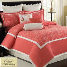 Red King Comforter Sets Bedroom Coral King Bedding With Coral Comforter Set