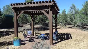 Timber Frame Pergola by Shade For Desert Xeriscape Timber Frame Diy Pergola Kit Western