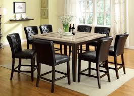 dining tables 5 piece counter height dining set espresso 9 piece