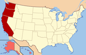 Blank Map Of The United States Of America by West Coast Of The United States Wikipedia