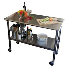 Kitchen Carts On Wheels by Trinity Ecostorage Nsf Stainless Steel Table With 48 Inch Wheels