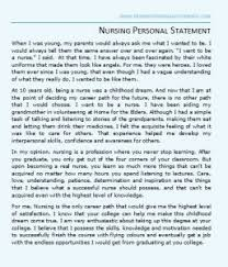 Sample Nursing Personal Statement that will Help you Gain that