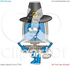 pilgrims on thanksgiving clipart picture of a desktop computer mascot cartoon character