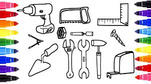 coloring pages of tools coloring page power tools u0026 hand tools and coloring painting for