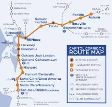 Sf Metro Map by Capital Corridor Train Route Map For Northern California