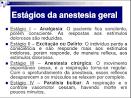 efeitos da <b>anestesia geral</b>