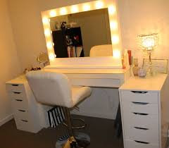 furniture wonderful makeup vanity table with lighted mirror to