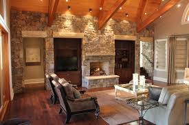 Modern Country Homes Interiors The Wood And Stone Modern Home