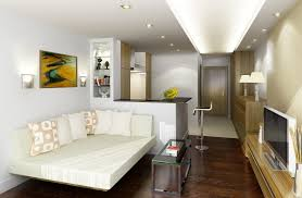 apartment arranging the furniture and decorations for small