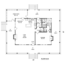 Small Cottage Floor Plan One Bedroom 1 5 Bath Cabin With Wrap Around Porch And Screened