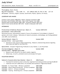Resume Examples With No Work Experience     resume samples for     good resume examples for high school students sample resume for       resume for
