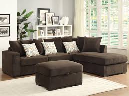 Chocolate Living Room Furniture by Coaster Olson Contemporary Reversible Sectional With Chaise Dunk