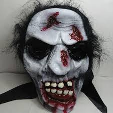 ghost half mask halloween full face mask cosplay scary ghost mask prank prop for