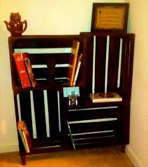 Wooden Crate Bookshelf Diy by Diy Crate Bookshelf Pallet Furniture Diy