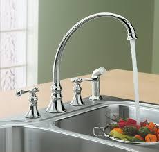 kohler k 16109 4a cp revival kitchen sink faucet polished chrome