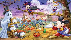 halloween background 1366x768 girls party x free widescreen hd disney halloween 1366x768