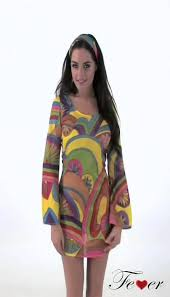 Flower Power Halloween Costume 30462 Fever 60 U0027s Flower Power Costume Multicoloured Video