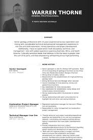 Resume Australia Examples by Geologist Resume Samples Visualcv Resume Samples Database