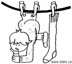 image of a child hanging from the clothesline, borrowed from bible.ca