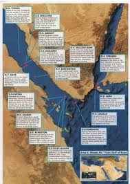 Map Of The Red Sea Red Sea Wreck Finder