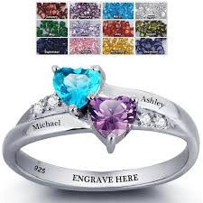 halloween wedding rings amazon com engagement ring promise ring for her couples 2 heart