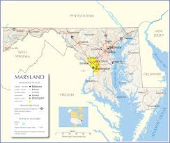 Usa States And Capitals Map by Maryland Map Maryland State Map Maryland Road Map Map Of Maryland