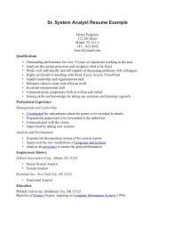 reporting analyst sample resume resume system analyst sample dalarcon com resume examples business systems analyst frizzigame