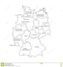 Map Germany by Map Of Germany Divided To Federal States Stock Vector Image