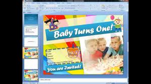 Create Birthday Invitation Card Online Magicfingers Birthday Invitation Card Using Microsoft Powerpoint