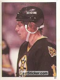 Steve Kasper (Boston Bruins). Sticker 81. O-Pee-Chee NHL Hockey 1981-1982 - 81