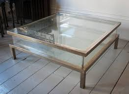 Display Coffee Table Coffee Table Excellent Square Glass Coffee Table Contemporary