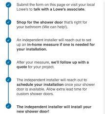 shower door installation from lowe u0027s
