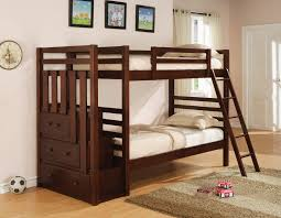 Childrens Oak Bedroom Furniture by Brown Oak Loft Bunk Bed With Wooden Roof Built In Drawers Ans
