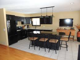 kitchen smooth powell color story black butcher block kitchen full size of kitchen stupendous painted black kitchen cabinets before plus after terrific remodel design and