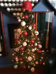 baseball christmas tree for hubby u0027s man cave holiday crazy