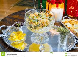 shrimp appetizer at a christmas party stock photo image 47732380