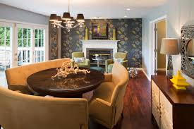 brown modern chairs color design for gorgeous dining room with