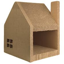 cardboard cat house cat scratcher play house could be more