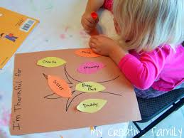 family thanksgiving activities thankful trees creative family fun