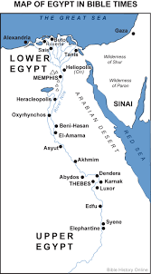Exodus Route Map by Map Of Egypt In Bible Times Bible History Online
