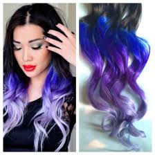 Grey Human Hair Extensions by Purple And Blue Hair Clip Extensions Blue Ombre Hair Purple