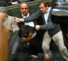 Pelea Palacio Legislativo