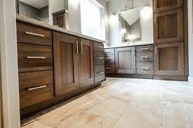 bathroom paint colors with dark cabinets are light