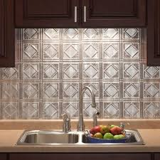 18 in x 24 in traditional 4 pvc decorative backsplash panel in