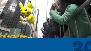 thanksgiving parade balloons celebrate pokemon20 with the pikachu balloon at the 2016 macy u0027s