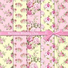 Shabby Chic Pink Wallpaper by Roses Digital Paper Delicate Shabby Chic Pink