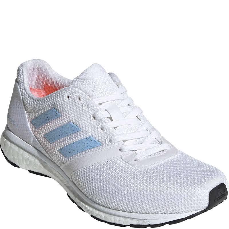 Adidas Adizero Adios Running Sneakers EF1456 White/Blue, Orange 6.5 US