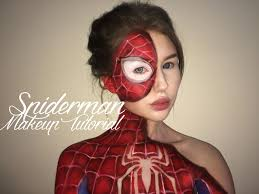 spiderman suit makeup tutorial youtube